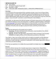 sample meeting memo template 9 free documents in pdf word