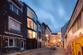 architect house at ghent allaert aluminium