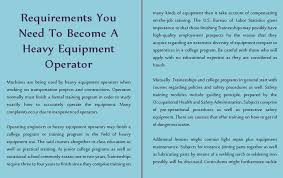 light equipment operator job description requirements you need to become a heavy equipment operator thinglink