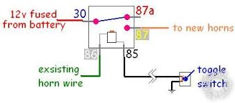 diagram of toggle switch with relays