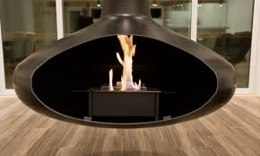 Hanging Fireplace Complete Homes Design
