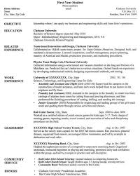 Examples Of Resume For College Students by Example Of Resume For Students Example Of A Student Resume