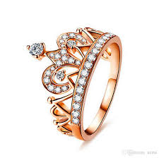shaped rings images Online cheap exquisite crown shaped ring rose gold color cz rings jpg