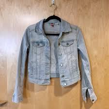 light blue cropped jean jacket h m jackets blazers bleach light blue cropped denim jacket