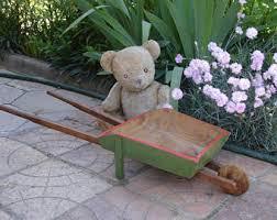 Wooden Wheelbarrow Planter by Wooden Wheelbarrow Etsy