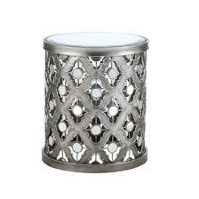 Quatrefoil Side Table Jerel Quatrefoil Mirror Accent Table Silver Target