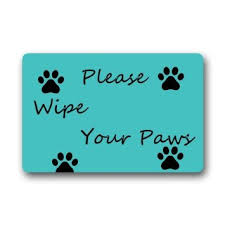 Wipe Your Paws Mat Decorative Buy Please Wipe Your Paws Custom Cute Cat Doormat 23 6x15 7