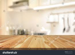 kitchen island used wood table top as kitchen island stock photo 410535943 shutterstock