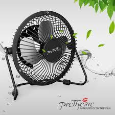 Desk Fan Small Prettycare Usb Desk Fan Powerful Airflow A Free Adapter Prettycare