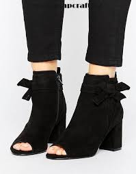 discount womens boots canada black shoes asos reunion bow ankle boots asos ankle boots