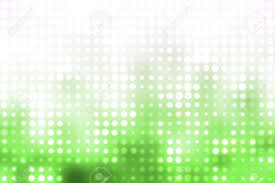 green and white glowing futuristic light orbs abstract background