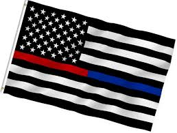 Thin Blue Line Flag 2018 2017 Thin Blue Line Police American Flag 3 By 5 Foot Flag