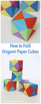 Origami Paper Works - paper cubes pin jpg