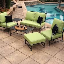 Patio Furniture Conversation Set - caluco san michele 4 person aluminum patio conversation set