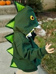 make a kid u0027s dinosaur costume from a zip up hoodie gardens kid