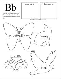 letter b worksheets for preschool worksheets