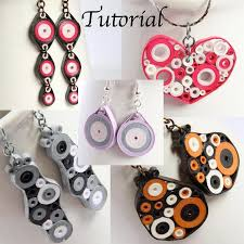 quilling earrings tutorial pdf free download tutorial for paper quilled jewelry pdf by honeysquilling on zibbet