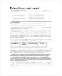 sample partnership agreements general partnership agreement