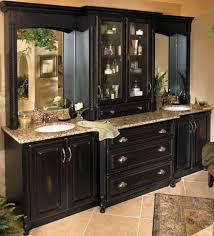 Black Bathroom Cabinet Master Bath Liking The Dark Cabinets Need More Storage Like The