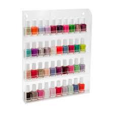 amazon com 40 bottles clear acrylic nail polish salon wall