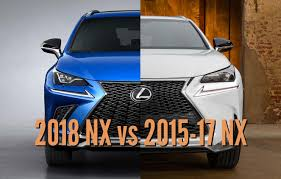 lexus nx 2017 2018 lexus nx vs 2015 17 facelift differences in photo comparison