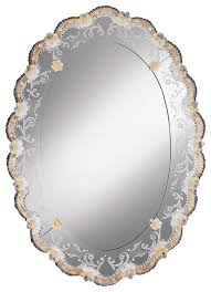 Bathroom Oval Mirrors by Oval Venetian Mirror With Gold Highlights Traditional Bathroom