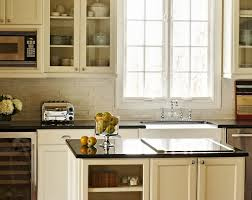 granite countertops for ivory cabinets kitchens ivory kitchen cabinets polished absolute black granite