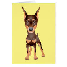 doberman pinscher birthday cards greeting photo cards zazzle