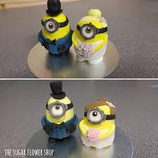 minion wedding cake topper 3d minion and groom wedding cake topper edible cake