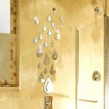 popular stencil wall buy cheap stencil wall lots from china 20pcs 35x76cm raindrop waterdrop diy art mirror sticker decals 3d mural wall stencils for bathroom decoration
