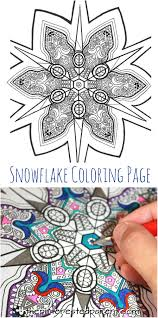 printable snowflake coloring page u2013 the pinterested parent