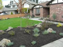 Landscaping Ideas For Slopes Landscape A Simple Minimalist Sloping Backyard Easy Pertaining To
