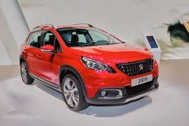 peugeot 2008 crossover 2016 peugeot 2008 facelift joins opel mokka x for geneva crossover