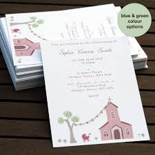 personalised christening or baptism invitations by molly moo