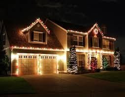 red white christmas lights christmas outside lighting garage outside lights twuzzer in