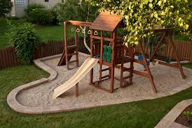 Backyard Playset Landscaping Diy Swingset Ideas Kids Playset - Backyard playground designs