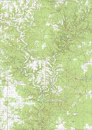 Map Missouri Ridge Runner Trail Mark Twain National Forest Missouri