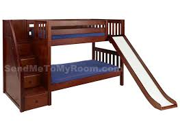 bedding luxury bunk beds with slide stacker twin low bed
