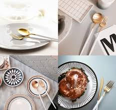 Luxury Cutlery by Matt White Gold 24 Piece Cutlery Set The Cool Hunter The Cool