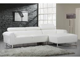 canape cuir angle droit canapé d angle cuir reconstitué pvc broadway 4 places blanc