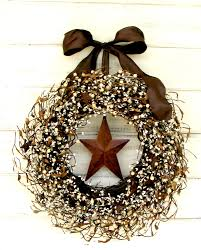 primitive rustic home decor fall wreath rustic wreath primitive berry wreath winter wreath