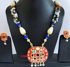 necklace stone bead images Multi color stone beads necklace beaded fashion jewellery shri jpg