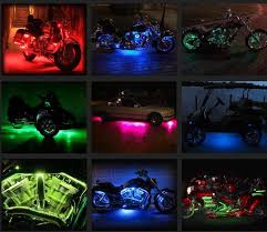 harley davidson lights accessories color changing motorcycle led accent kits for hds