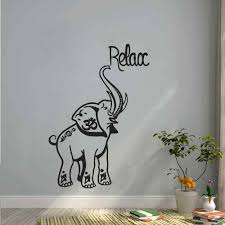compare prices on safari wall murals decals online shopping buy indian elephant wall decal vinyl stickers safari decals relax om sign art mural bedroom living room