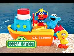 Elmo Bathroom Set Elmo Cookie Monster Pool Party Elmo Bath Adventure Steamboat Big
