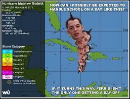 Ferris Bueller Meme - ferris bueller hurricane mathew broderick meme waterfront