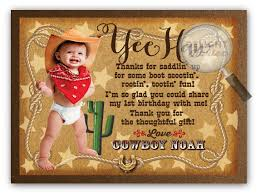 cowboy birthday thank you cards di 310ty harrison greetings