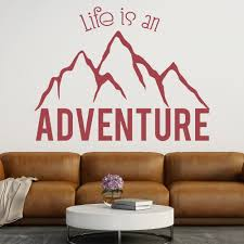 life is an adventure mountain quote inspirational wall stickers life is an adventure mountain quote inspirational wall stickers home art decals