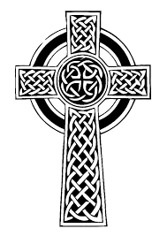 irish celtic cross coloring pages place color