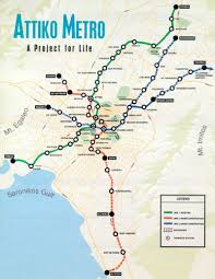 Athens Metro Map by Getting Around Athens Greece Bus Schedules Train Airport